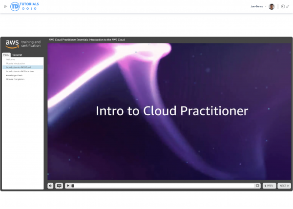 Cloud Practitioner - Full Screen